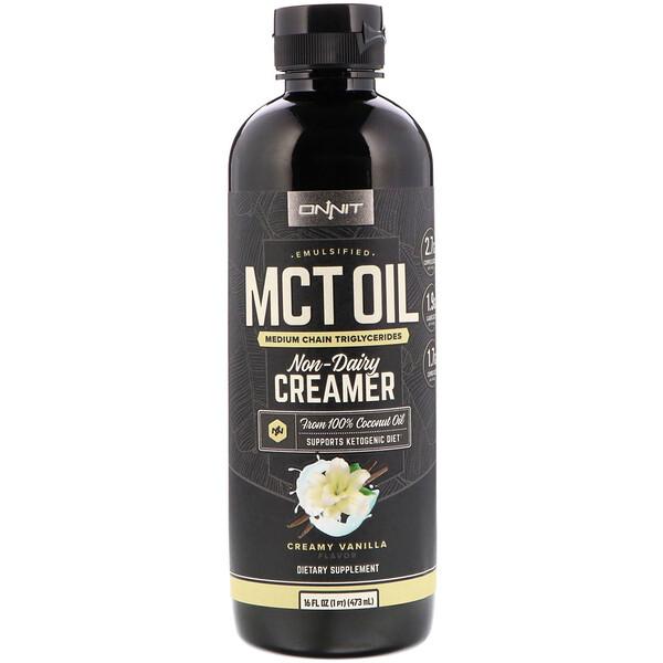 Emulsified MCT Oil, Non-Dairy Creamer, Creamy Vanilla, 16 fl oz (473 ml)