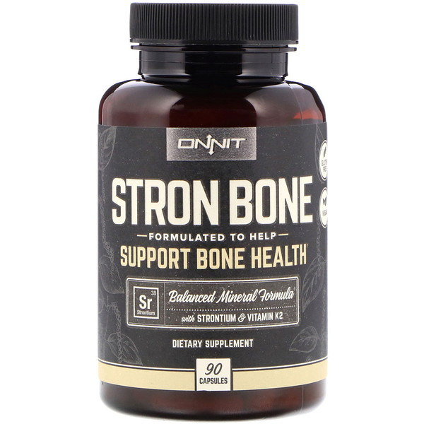 Onnit, Stron Bone,  90 Capsules (Discontinued Item)