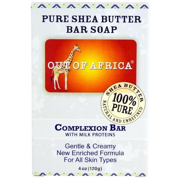 Out of Africa, Мыло с чистым маслом ши, мыло для лица, 4 унции (120 г) (Discontinued Item)