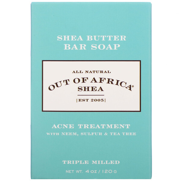 Shea Butter Bar Soap, Acne Treatment, 4 oz (120 g)