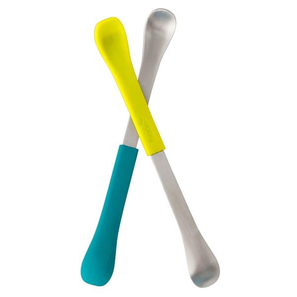 Swap, ложка для кормления 2-в-1, 4+ месяца, бирюзовая и желтая, 2 ложки