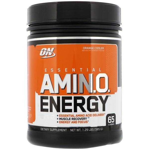 Optimum Nutrition, Энергия незаменимых аминокислот с цитрусовым вкусом, 585 г