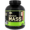 Optimum Nutrition, Serious Mass, порошок с высоким содержанием белка для набора веса, со вкусом клубники, 2,72 кг (6 фунтов)