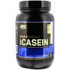 Optimum Nutrition, Gold Standard 100% Casein, казеин со вкусом сливочной ванили, 909 г (2 фунта)
