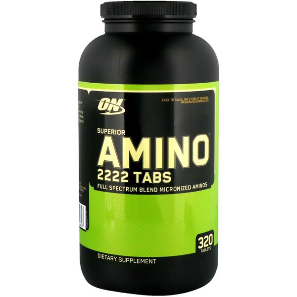Optimum Nutrition, Superior Amino 2222 Tabs, 320 таблеток