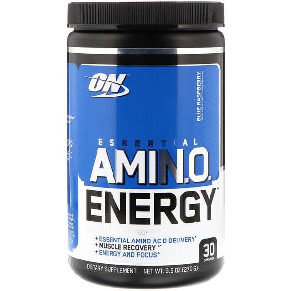 Essential Amin.O. Energy, голубая малина, 270 г (9,5 унций)
