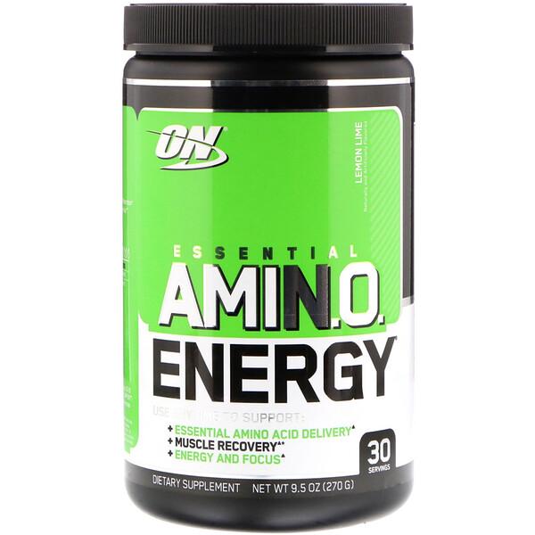 Optimum Nutrition, Essential Amino Energy, со вкусом лайма, 270 г