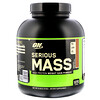 Optimum Nutrition, Serious Mass, высокопротеиновая добавка для наращивания веса, шоколад, арахисовое масло, 6 фунтов (2,72 кг)