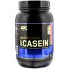 Optimum Nutrition, Казеин Gold Standard 100% Casein, клубничное мороженное, 909 г (2 фунта)