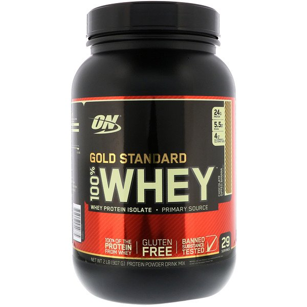 Optimum Nutrition, Gold Standard 100% Whey, Chocolate Dipped Banana, 2 lb (907 g) (Discontinued Item)