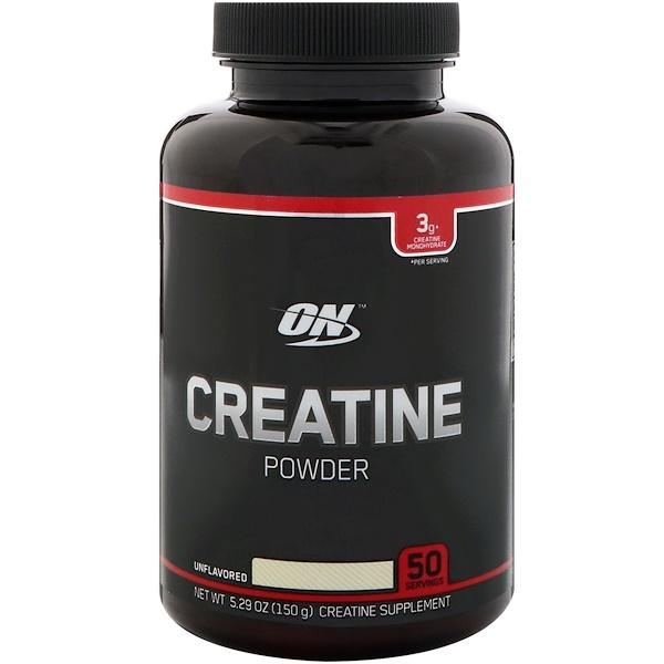 Optimum Nutrition, Креатин в порошке, Без ароматизаторов, 5,29 унц. (150 г) (Discontinued Item)