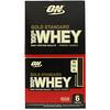 Optimum Nutrition, Сыворотка Gold Standard 100%, двойной шоколад, 6 пакетов, 1,07 унц. (30,4 г) каждый