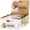 Optimum Nutrition, Протеиновые вафли, ванильный крем, 9упаковок, 40г (1,42унции) каждая