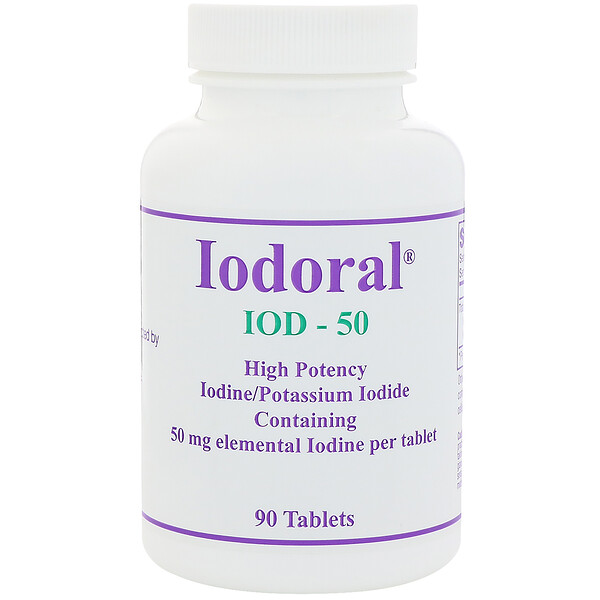 Йодорал, 50 мг, 90 таблеток