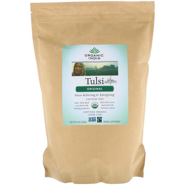Листовой чай тулси, оригинальный, без кофеина, 454 г (16 унций)