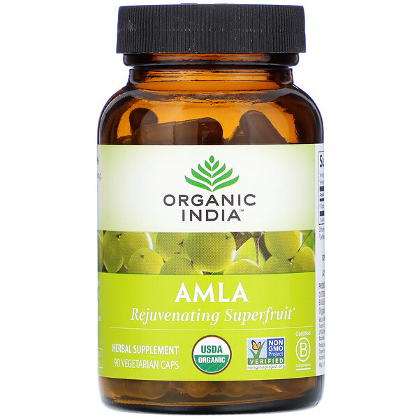 Organic India, Amla, 90 Vegetarian Caps
