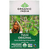 Organic India, Чай с туласи, оригинальный, без кофеина, 18пакетиков, 32,4г (1,14 унции)