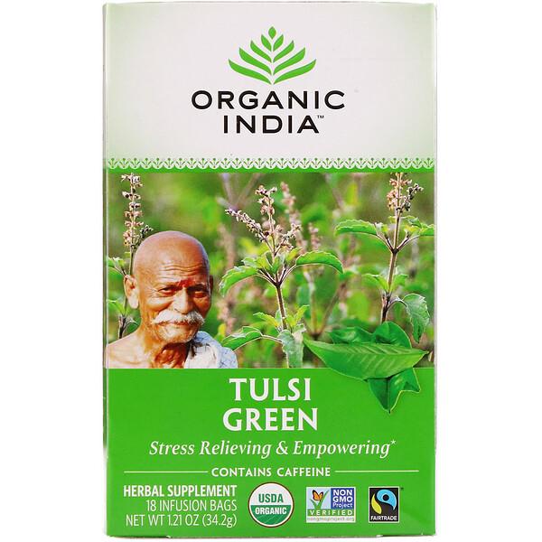Чай с тулси, зеленый, 18пакетиков, 34,2г (1,21 унции)
