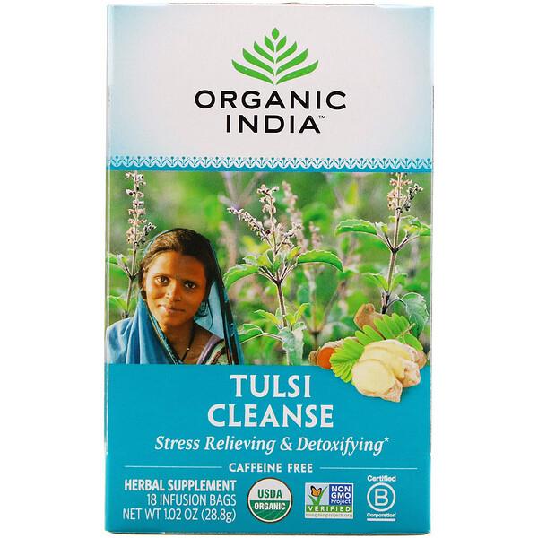 Очищающий чай с тулси, без кофеина, 18пакетиков, 28,8г (1,02 унции)