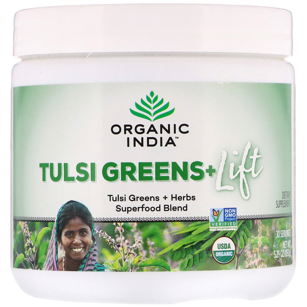 Organic India, Tulsi Greens+ Lift, Superfood Blend, 5.29 oz (150 g)