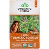 Organic India, Tulsi Tea, Turmeric Rooibos, Caffeine-Free, 18 Infusion Bags, 1.27 oz (36 g)
