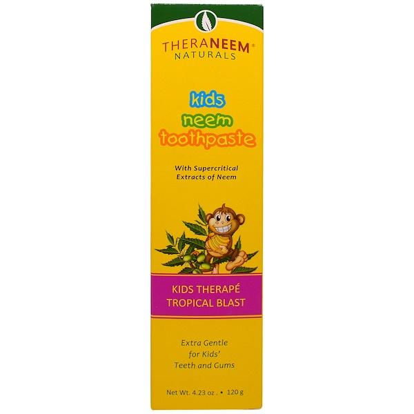 TheraNeem Naturals, Kids Therapé, Kids Neem Toothpaste, Tropical Blast, 4.23 oz (120 g)