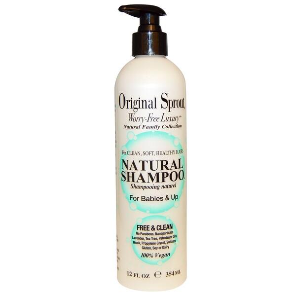 Натуральный шампунь, для младенцев и старше, 12 жидких унций (354 мл)