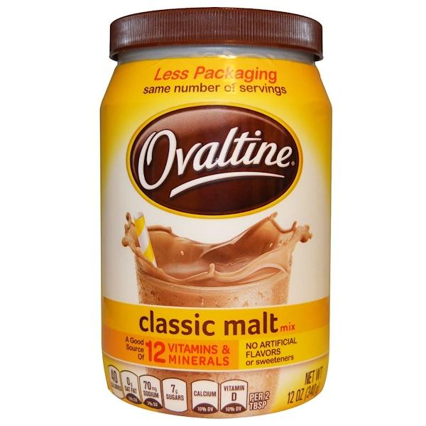 Ovaltine, Классический солодовый напиток, без кофеина, 12 унций (340 г) (Discontinued Item)