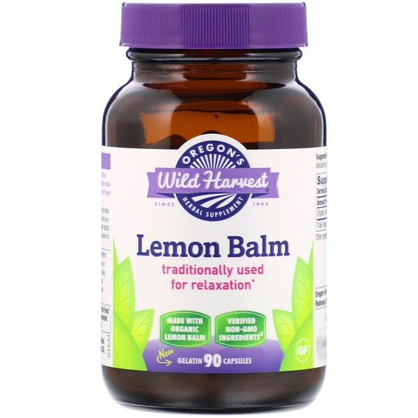 Lemon Balm, 90 Gelatin Capsules