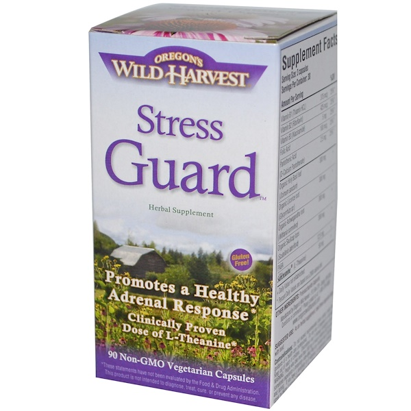 Oregon's Wild Harvest, Stress Guard, 90 Veggie Caps (Discontinued Item)