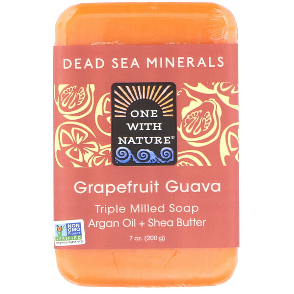 Тройное рифленое мыло, грейпфрут гуава, 200 г (7 унций)