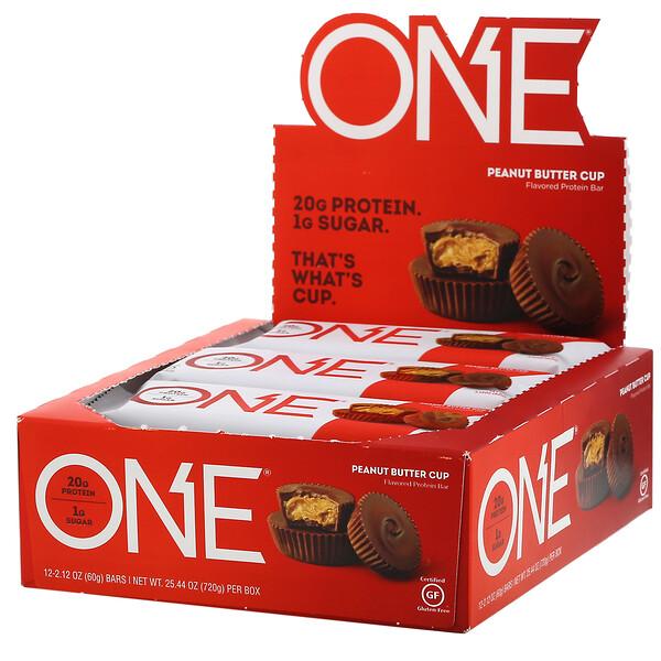 ONE Bar, Peanut Butter Cup, 12 Bars, 2.12 oz (60 g) Each