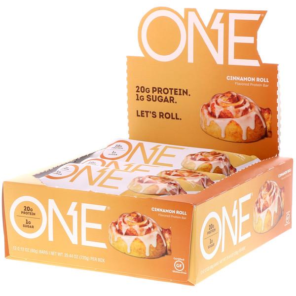 ONE Bar, Cinnamon Roll, 12 Bars, 2.12 oz (60 g) Each