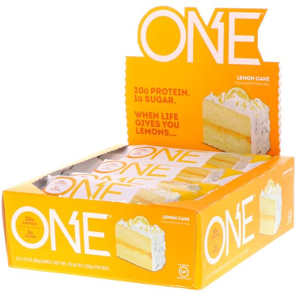 ONE Bar, Lemon Cake, 12 Bars, 2.12 oz (60 g) Each