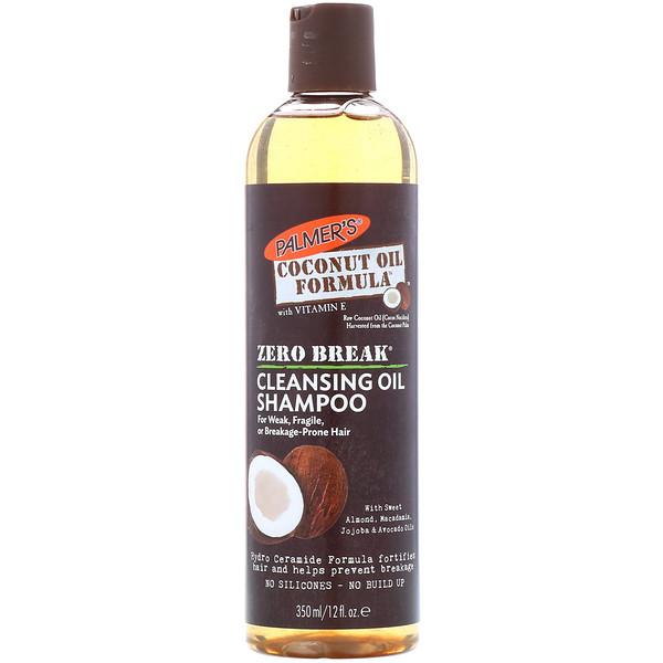 Palmer's, Формула на основе кокосового масла, нулевой разрыв, очищающий масляный шампунь, для слабых, подтвержденных или ломких волос, 350 мл (Discontinued Item)