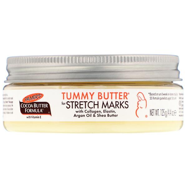 Формула с какао-маслом, масло для живота Tummy Butter, против растяжек, 125 г (4,4 унции)