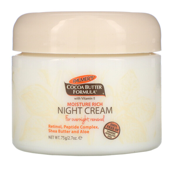 Формула с маслом какао, увлажняющий ночной крем, 2,7 унции (75 г)