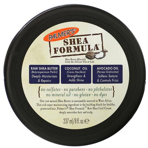 Palmer's, Shea Formula, увлажнение и восстановление, крем для кудрявых волос с нерафинированным маслом ши, 8 ж. унц.(237 мл)
