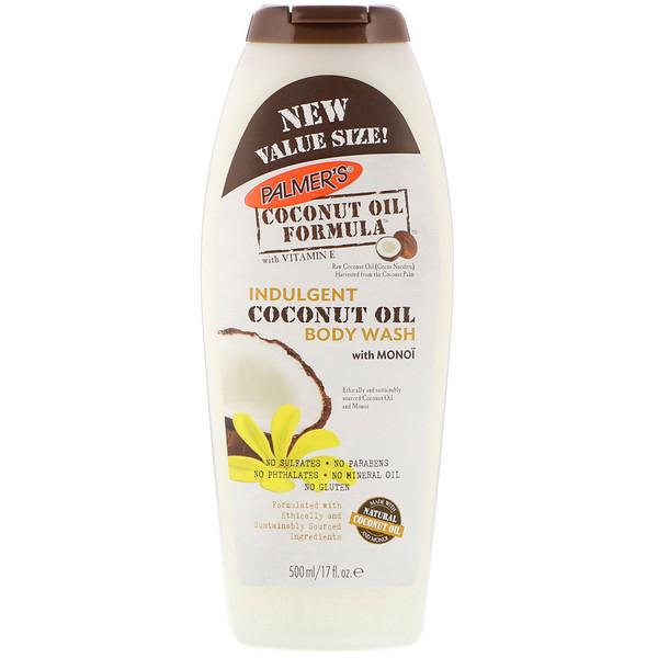 Palmer's, Формула с кокосовым маслом, увлажняющее мыло для тела с кокосовым маслом и тиаре, 17 жидких унций (500 мл) (Discontinued Item)