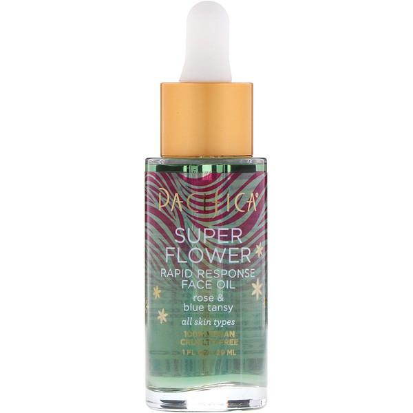 Pacifica, «Суперцветок», быстродействующее масло для лица, 29мл (Discontinued Item)
