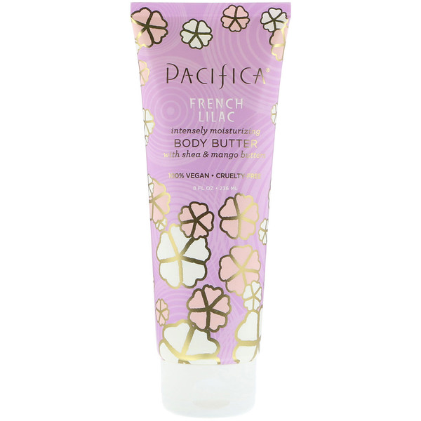 Pacifica, Body Butter, French Lilac, 8 fl oz (236 ml) (Discontinued Item)