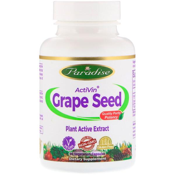ActiVin, экстракт из косточек винограда, 90 растительных капсул
