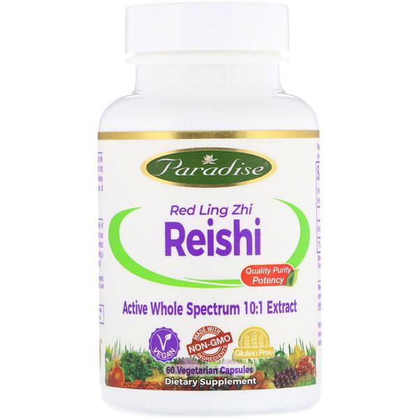 Рейши, красный гриб линчжи, 60 вегетарианских капсул