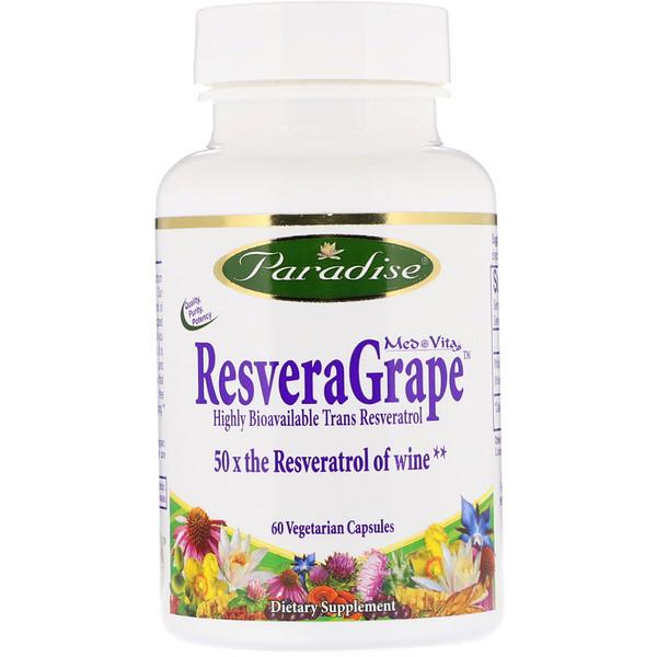 MedVita, ResveraGrape, 60 Vegetarian Capsules