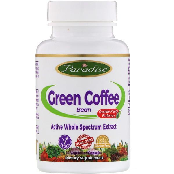 Paradise Herbs, Paradise Herbs, зеленые кофейные бобы, 60 вегетарианских капсул (Discontinued Item)