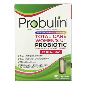 Probulin, Total Care Women's UT Probiotic, 20 Billion CFU, 30 Capsules