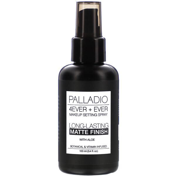 Palladio, Спрей для фиксации макияжа 4Ever + Ever, стойкий матовый финиш, 100мл