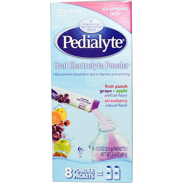 Pedialyte, Порошок-электролит для рта, ассорти, 8 пакетиков с порошком по 0.3 унций (8.5 г) (Discontinued Item)