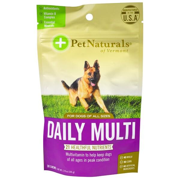 Ежедневный мультивитамин, для собак, 30 жевательных таблеток, 3,70 унции (105 г)
