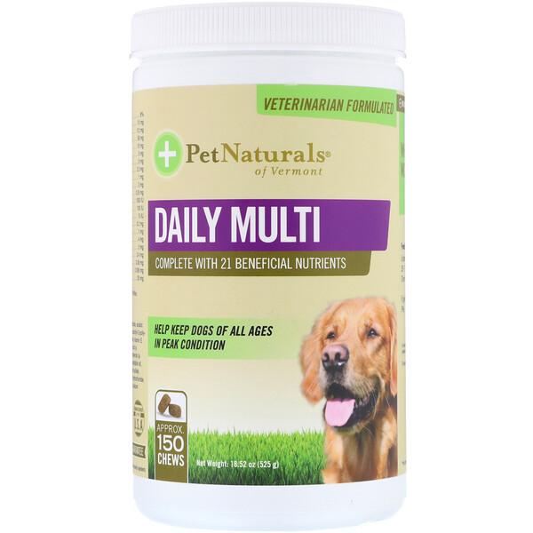 Pet Naturals of Vermont, Daily Multi, для собак, 525 г (18,52 унции)
